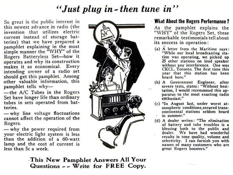 1926 rogers batteryless first ac