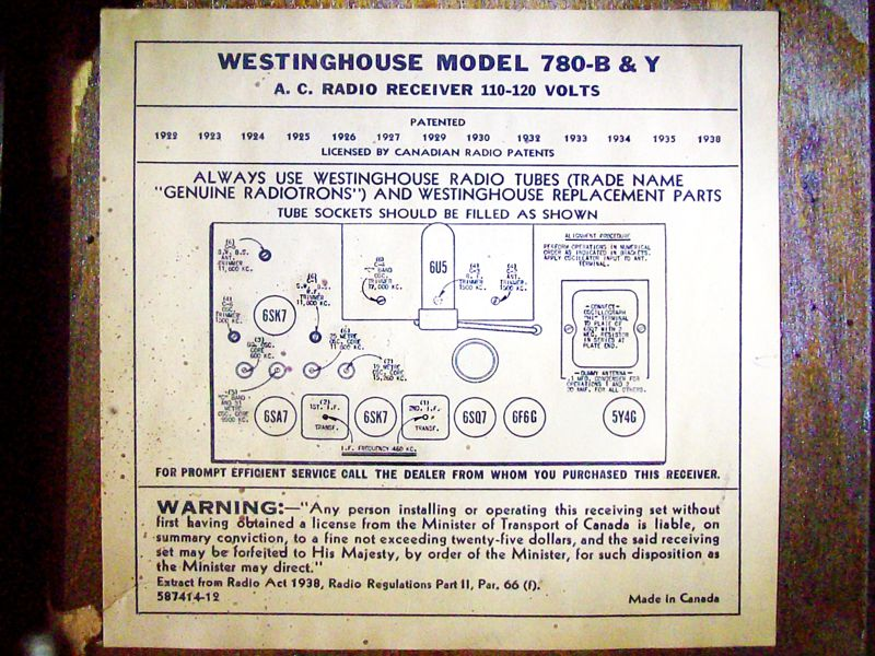 Second 1940 Westinghouse 780