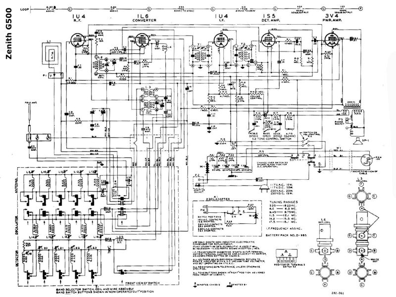1950 Zenith Transoceanic Model G500 Shortwave Radio. Here Are The Specifications. Wiring. Zenith Tube Radio Schematics H500 At Scoala.co